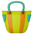 A colorful fashion bag vector image
