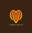 abstract lotus leaf business logo vector image