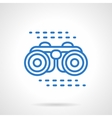 Binoculars icon blue line style vector image