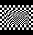 black and white chessboard walls room vector image