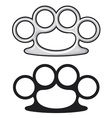 Brass knuckles vector image