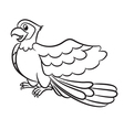 Cartoon of cute parrot outlined vector image