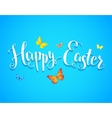 Easter and butterfly vector image