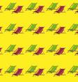 flat summer beach chair pattern vector image