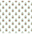seamless pattern with half avocado on white vector image
