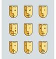 set of human moods avatars faces vector image