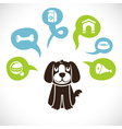 Funny cartoon dog vector image