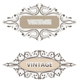 beautiful vintage label with swirls vector image