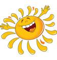 Happy cartoon sun design vector image