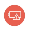Empty battery thin line icon vector image