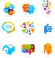 collection of social media and network icons vector image