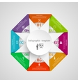 Infographic circle triangle flowchart template vector image
