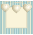 Hanging Heart Background vector image vector image