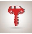 Car key design vector image