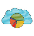 cloud storage data service icon and available vector image