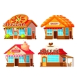 Country Shop Storefronts Set vector image