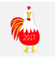 Red Rooster Cock bird New Year text symbol Chinese vector image