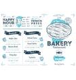 Restaurant cafe bakery menu template vector image