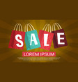 sale discount different shooping bags collection vector image