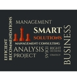 Smart solutions logo template with management vector image