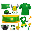 sport fans supporters realistic accessories vector image