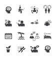 stressed and refreshing icons set vector image