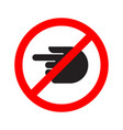 turn forbidden sign hand vector image