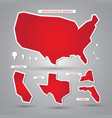 usa maps and elements vector image