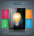 bulb infographic tablet icon vector image