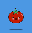 Cute vegetable cartoon character tomato icon vector image