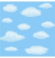 clouds on blue sky vector image vector image
