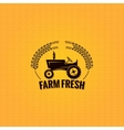 farm tractor design background vector image vector image