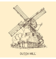 Dutch mill vector image vector image