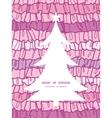 pink ruffle fabric stripes Christmas tree vector image