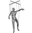 marionette puppeteer vector image