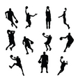 Sportsmen silhouettes vector image