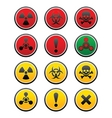 symbols of hazard vector image