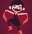 Cute Vampire Girl Making a Scary Pose vector image