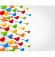 birds flight background vector image vector image