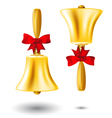 Golden school handbell - back to school vector image vector image