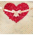 Valentines day card with a petals EPS 10 vector image