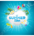 Summer Time Holiday typographic design vector image vector image