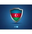 Azerbaijan shield on the blue background vector image