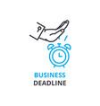 business deadline concept outline icon linear vector image