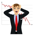 businessman screaming mouth open vector image
