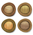 comic rounded wood viking shields vector image