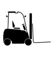 electric loader the black color icon vector image