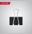 isolated pushpin flat icon paper clip vector image