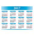Italian calendar 2017 vector image
