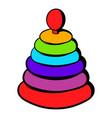pyramid toy icon icon cartoon vector image